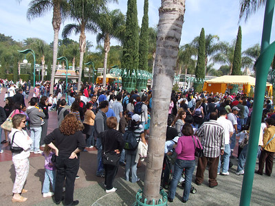 For those folks who think Super Bowl Sunday is slow at Disneyland.... Well, guess again!