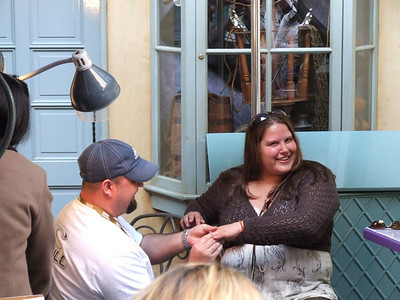 Caught someone proposing across from the Blue Bayou