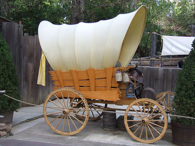 A new wagon out by the Petting Zoo area