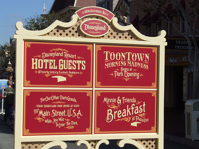 A sign at the top of Main Street tries to explain where to go