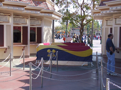 Some work is happening in the Main Entry Plaza