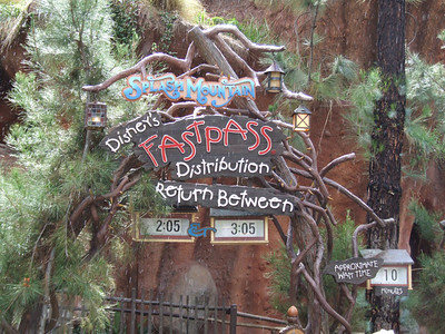 The Splash Mountain FASTPASS machines are back online