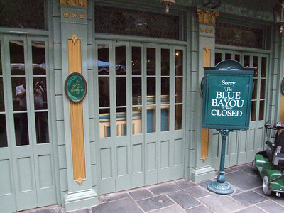 The Blue Bayou is closed until June 25th