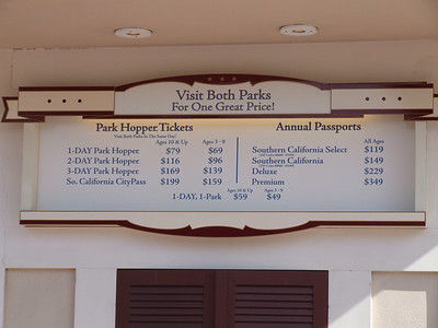 A minor change to the Ticket Booth Menu's, the new 2006 version of the CityPass is now on sale, more expensive than the 2005 version, and now includues Universal Studios instead of Knott's.