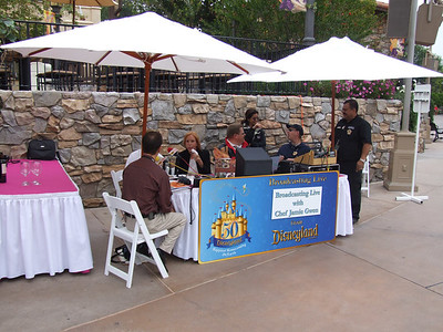 KABC radio is set up to promote the Food and Wine event, a Disney owned station