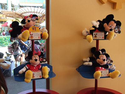 The new Mickey and Minnie Build-A-Bear Dolls