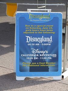 Now to DtD, the Monorail was down this morning, but they already have warning signs