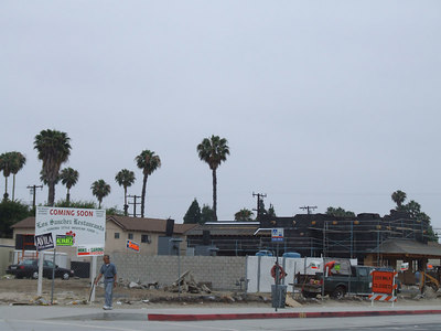 Let's start in Garden Grove (where they have $2.99 a gallon gasoline) and the building of Los Sanchez Mexican Restaurant.
