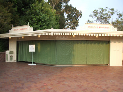 Stroller Rental is now located in the Main Entry Plaza next to the Kennels.