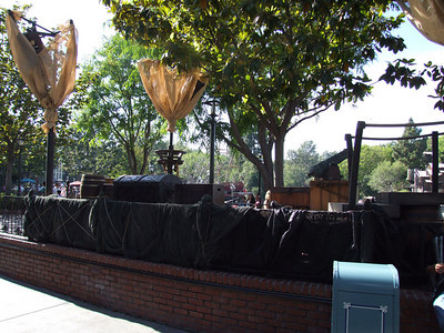 The new stage area for the Pirates that will perform starting next week