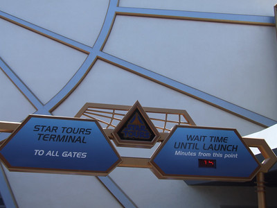 The Star Tours signs have been updated to show the fact the FP machines have been removed.