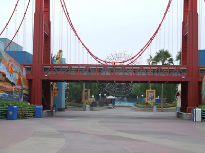 A shot prior to the gates opening up