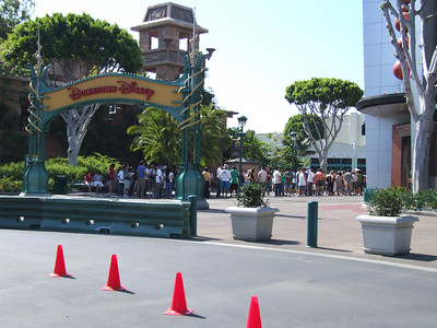 Yes, before 10 AM, and the line is already long for the ESPN Zone, with Italy and France supporters
