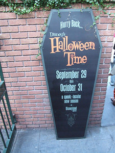 And the exit to Haunted Mansion is plugging the new event coming up