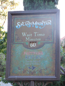 Splash Mountain has a new Wait Board near the Haunted Mansion exit
