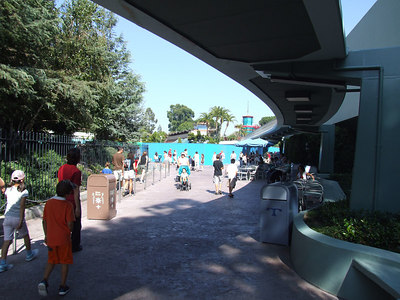 The Refurb walls are up at the Monorail