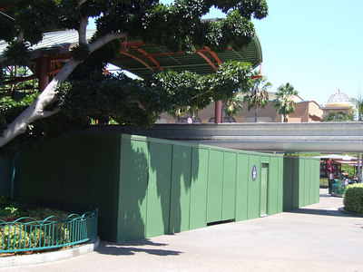 A Refurb Wall has been placed on the south side