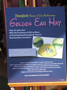 Could Disney be overstocked on the 50th ears?