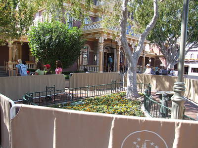 Painting continues in the Town Square