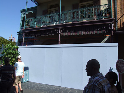 Work continues on the old Le Bat en Rouge store