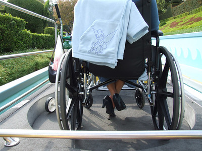 This is the special Wheelchair boat.  It has a lift that lowers after loading