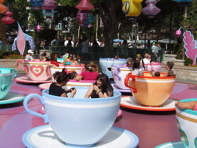 The Gold Tea Cup on the ride has been repainted back to the standard colors
