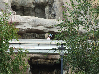 Work has started on removing portions of the Matterhorn track for replacement