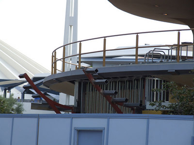 Work continues on the new shop in Tomorrowland