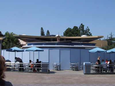 The Tomorrowland Terrace Stage has been partially raised