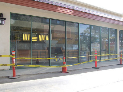 The new Quizno's on Harbor is close to opening....