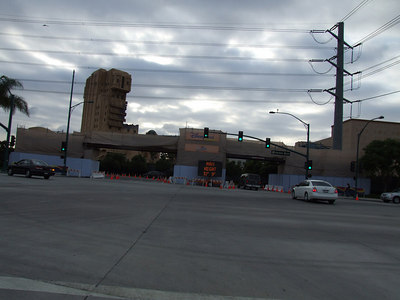 The Harbor Blvd entrance has reopened into Timon, but it has a low clearance (13 feet, 9 inches in height)