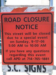 Next Saturday and Sunday Disneyland won't open until 10 AM due to the Marathon events, Saturday won't close roads....