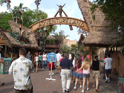 Adventureland was still the only way in or out of NOS and Critter Country