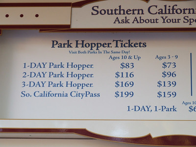 The Multi-Day tickets wil be going up January 3rd, $6 for the 2 day, $10 for the 3 day and longer PH's.