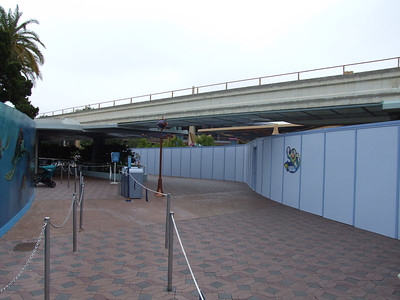 The only way into the area is either by the old Radio Disney booth, near the Innoventions entrance, or the new rebuilt path by the Buzz Shop