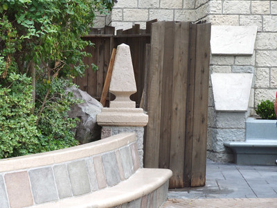 While the new King and Queen Restrooms have been open for weeks now, they are still working on a little section near the entrance to the restrooms