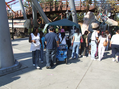 The Knott's Camp Spooky Halloween Treasure Hunt has been popular with the kids.