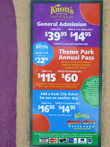And here is the Breaking News, Knott's actually lowered the full price for Adults from $45 to $39.95