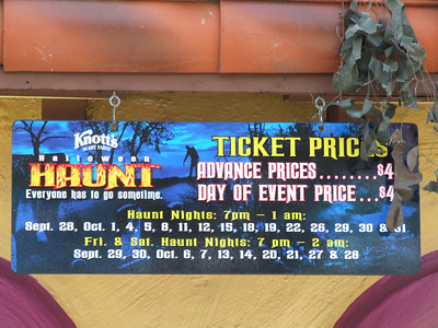 Stop by Burger King first, and get a coupon that will save you money. The Advance Price is $44, and the Day of Event Price is $49