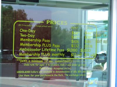 LEGOLAND rasied their prices to $54, matching the SeaWorld San Diego increase.
