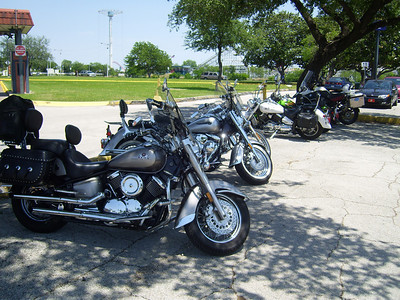 A few other bikes in the Six Flags parking lot.  Riding the bike there is double the fun.