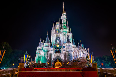 Cinderella Castle Dream Lights with TV Stage