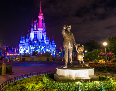 Walt, Mickey, and the Patriotic Castle