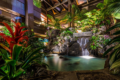 Polynesian Lobby Waterfalls - Front Side