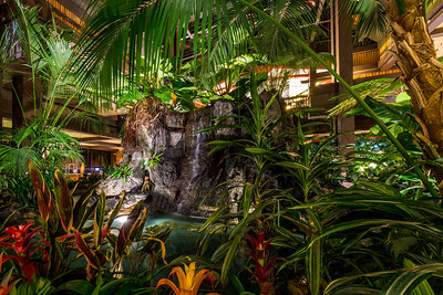 Polynesian Lobby Waterfalls - East Side, Angle 1