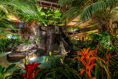 Polynesian Lobby Waterfalls - East Side, Angle 2