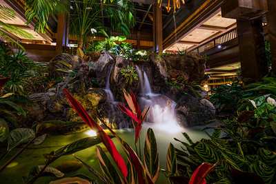 Polynesian Lobby Waterfalls - West Side