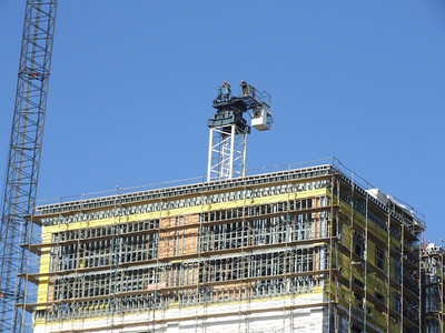 Some workers on the top of WorldMark