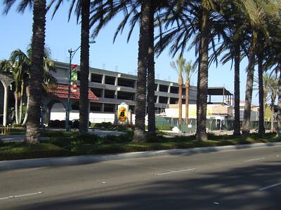 The Anaheim Garden Walk parking structure is pretty well finished.