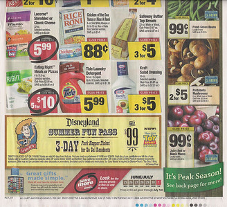 VONS (a company operated by Safeway) has the ad at the bottom of its front page.  The ticket can also be found at many Pavillion stores in Southern California, a part of the VONS/Safeway family.
